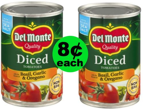 Del Monte Canned Tomatoes Are Less Than ONE DIME at Publix! ~ Starts Weds/Thurs!