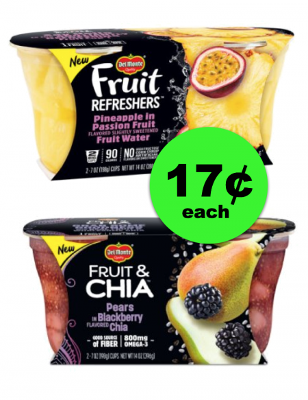 Hurricane Prep Item!! Del Monte Fruit Refreshers or Fruit & Chia For ONLY 17¢ Each ~ Ad Starts Today!