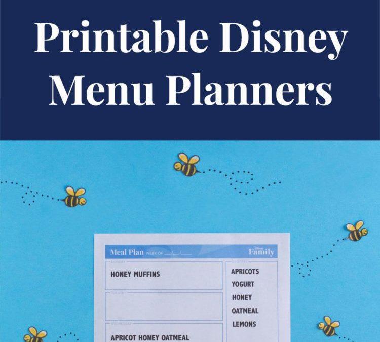 FREE Disney Menu Planner Printables!