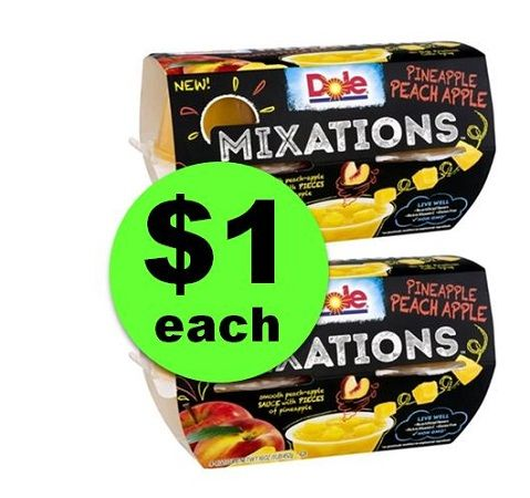 LAST CHANCE for $1 Dole Fruit Bowls or Mixations at Winn Dixie! (Ends 4/17)