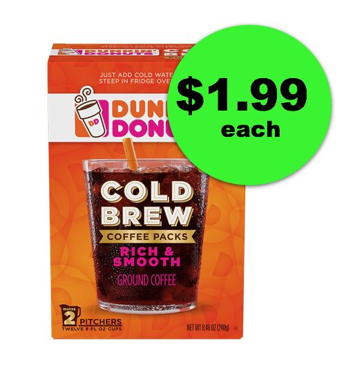 Dunkin cold brew packs