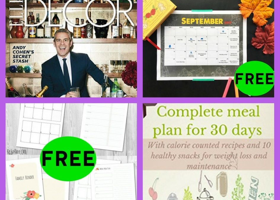 FOUR (4!) FREEbies: Annual Subscription to Elle Decor Magazine, Disney September Family Fun Calendar, Complete 30 Day Meal Plan and Organization Printables!