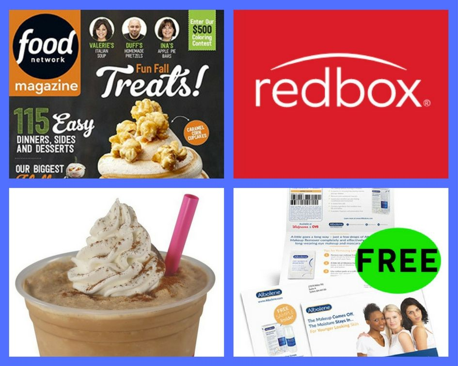 FOUR (4!) FREEbies: Annual Subscription to Food Network Magazine, Redbox Rental, Baskin-Robbins Cappuccino Blast and Makeup Remover!