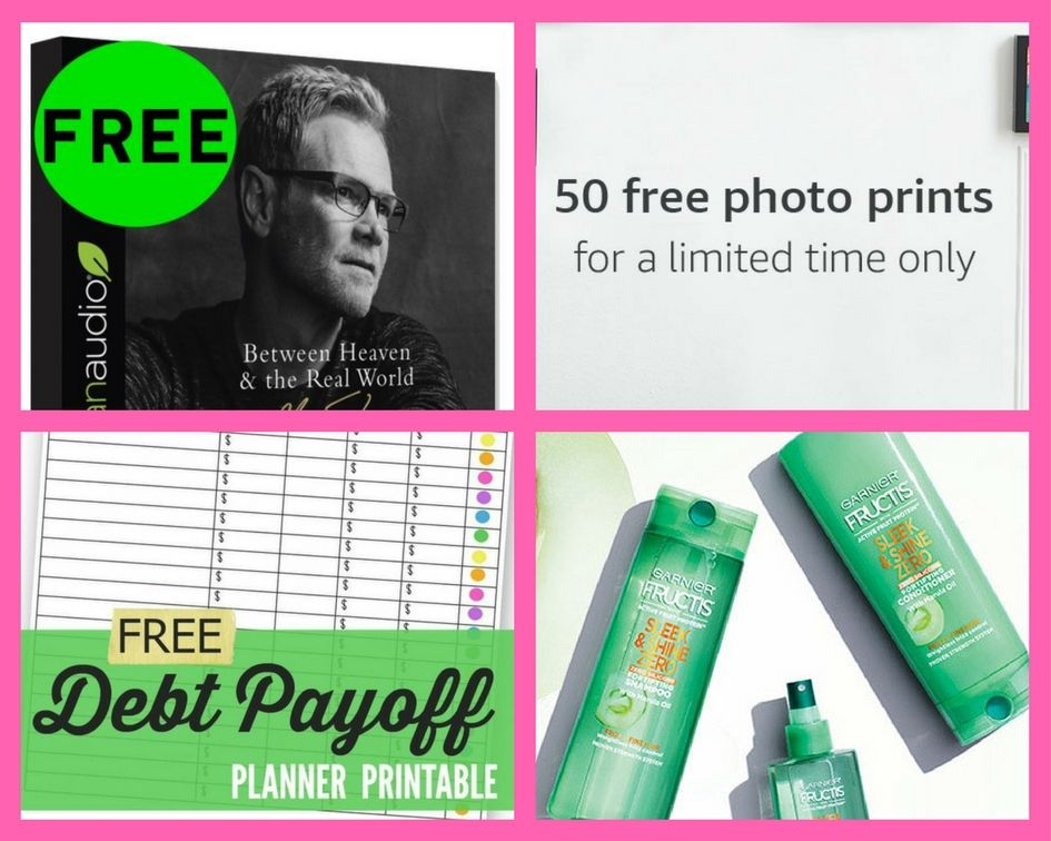 FOUR (4!) FREEbies: Steven Curtis Chapman Audiobook, 50 Photo Prints from Amazon, Debt Payoff Planner Worksheet and Garier Fructis Sleek & Shine Zero!