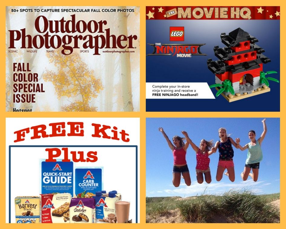 FOUR (4!) FREEbies: Annual Subscription to Outdoor Photographer Magazine, Lego Ninjago Movie Building Event, Atkins Quick Start Kit + $5 Coupon and Entrance to National Parks!