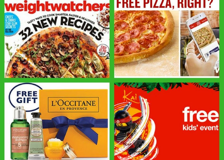 FOUR (4!) FREEbies: Annual Subscription to Weight Watchers Magazine, Papa Johns Pizza, L'Occitane Gift and Scavenger Hunt!