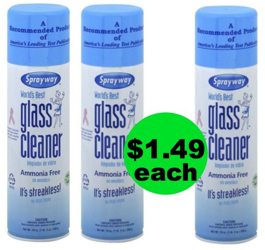 Window Shine Time! Only $1.49 Sprayway Glass Cleaner {Reg. $2.99} ~ Right Now at Publix!