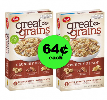 WAKE UP!! Post Great Grains Cereal Is Only 64¢ Each Box at Publix ~ Going On Now!
