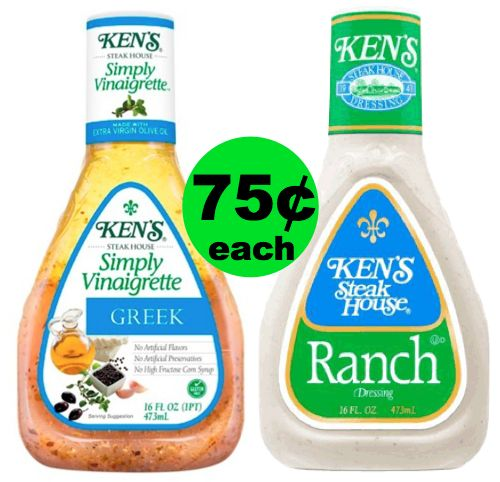Make Salads More Delicious! ?Ken's Salad Dressings Are Only 75¢ Each at Publix! (Ends 6/5 Or 6/6)