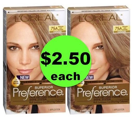 Hide Those Grays with $2.50 L'Oreal Preference or Excellence Hair Color at CVS! ~ This Week Only!