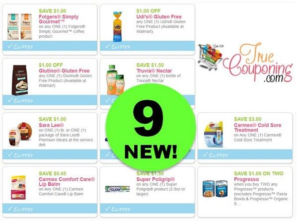 PRINT the NINE (9!) *NEW* Coupons for Folgers, Sara Lee, Glutino & More!