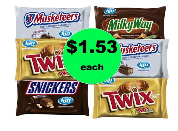 Stock Up on Mars Fun Size Bags ONLY $1.53 Each at Winn Dixie! ~Ends Tomorrow!