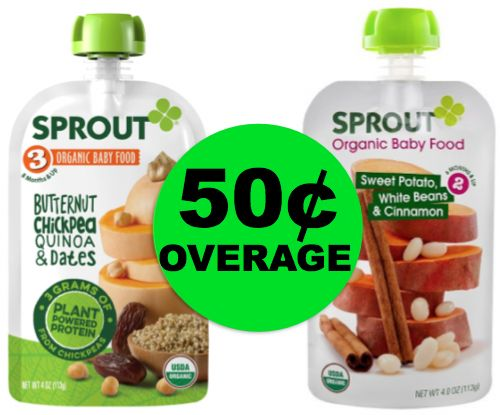 Fox Deal of the Week! Get PAID 50¢ OVERAGE On Sprout Baby Food!!
