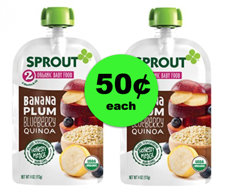 Healthy AND Convenient Sprout Baby Food Pouches Are Just 50¢ at Publix ~ Ad Starts Today!