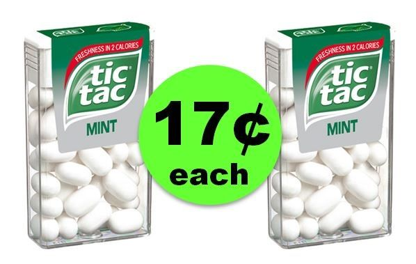 Pick Up Tic Tac Mints ONLY 17¢ Each at CVS (At Publix & Target Too)! ~ Going On Now!
