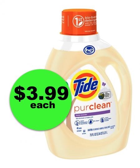 HUGE TIDE SAVINGS! Snag $3.99 Tide Purclean 75 Oz Bottle at Publix ($10 Off)! (Ends 1/9 or 1/10)