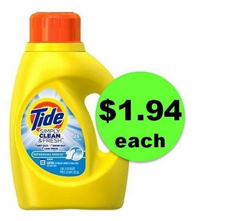 Clean Up with $1.94 Tide Simply Clean & Fresh Detergent at CVS! ~ Ends Saturday!!