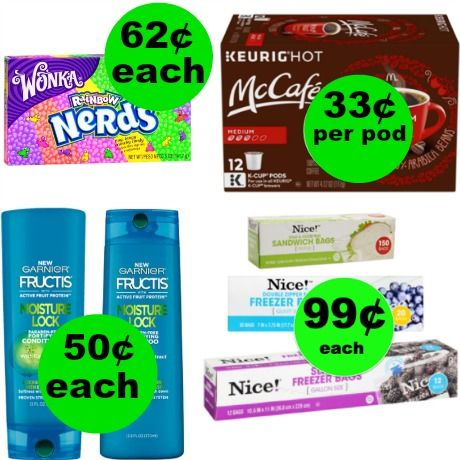 Don't Forget Your SIX (6!) Deals JUST 62¢ Each or Less at Walgreens!