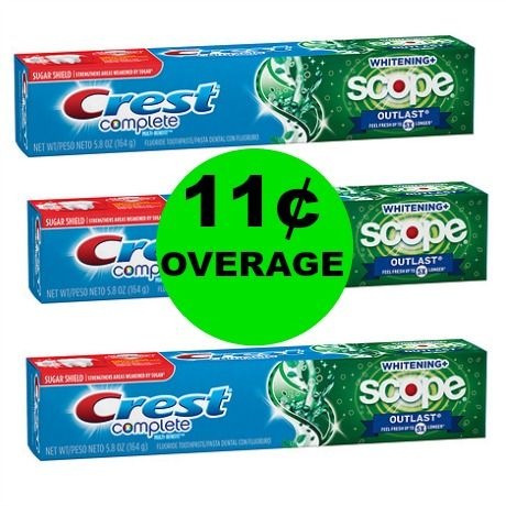 Last Chance for THREE (3!) FREE + 11¢ Overage on Crest Complete Toothpaste at Walgreens! ~Ends Today!