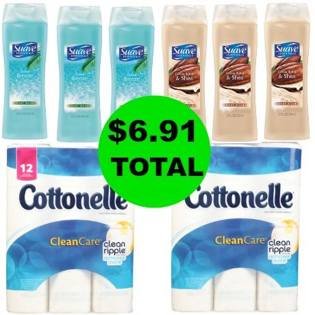 For $6.91 TOTAL, Get (6) Suave Body Washes & (2) Cottonelle Bath Tissue 12-Packs This Week at Walgreens!