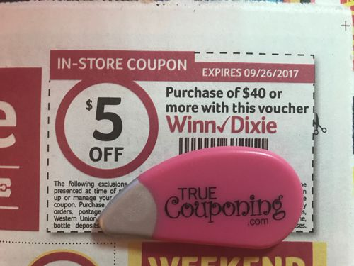 SURPRISE! Special $5 Off $40 Winn Dixie Coupon In Today's Mail! {Use It At Publix!}