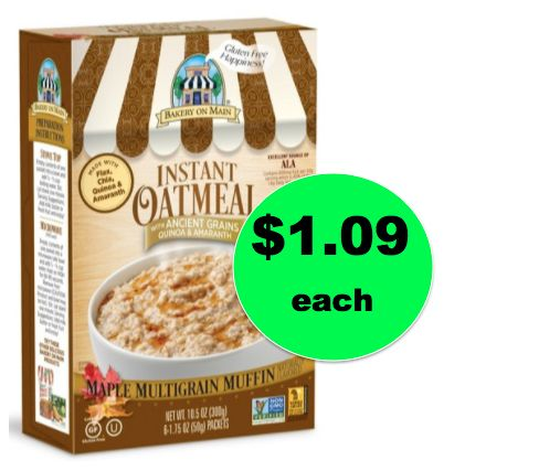 Healthy Cheap Breakfast! Bakery on Main Gluten Free Instant Oatmeal ONLY $1.09 at Target! ~Ends Saturday!