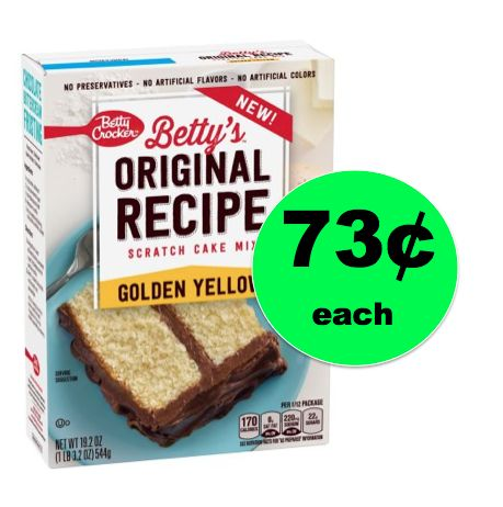 Get Betty Crocker Betty's Original Recipe Scratch Cake Mix ONLY 73¢ at Walmart! ~Right Now!