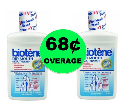 TWO (2!) FREE + 68¢ Overage on Biotene Mouthwash at Walmart! ~Right Now!