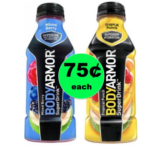 Enjoy Body Armor Super Drinks ONLY 75¢ Each at Winn Dixie! ~ Starts Tomorrow!