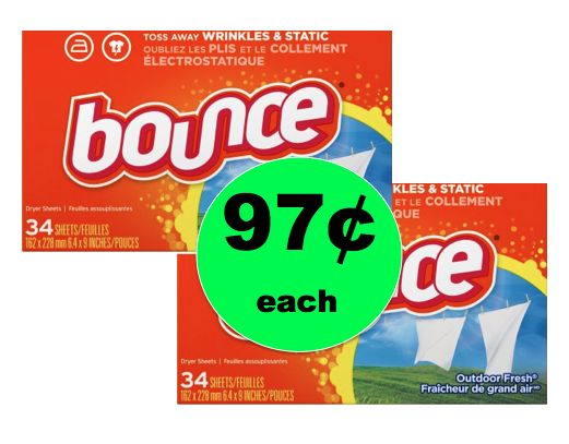 Laundry Smells Great with Bounce Dryer Sheets ONLY 97¢ Each at Walmart! ~Right Now!
