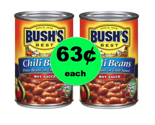 It's Chili Time! Get Bush's Beans ONLY 63¢ Each at Winn Dixie! ~Right Now!