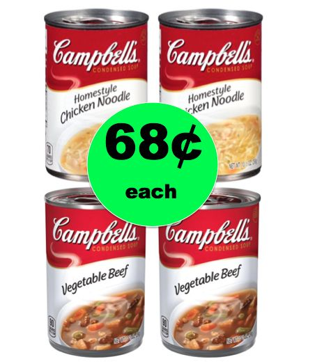 Warm Up with 68¢ Campbell's Condensed Soups at CVS! (Ends 1/27)