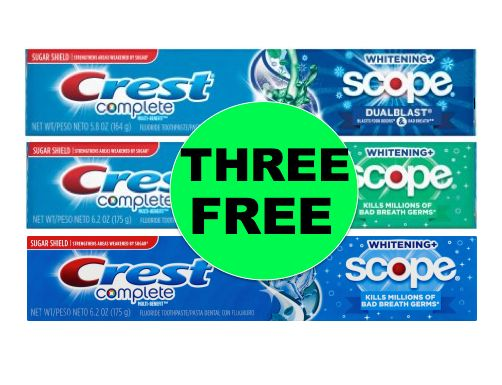 THREE (3!) FREE Crest Complete Toothpaste at Walmart! ~ Right NOW!