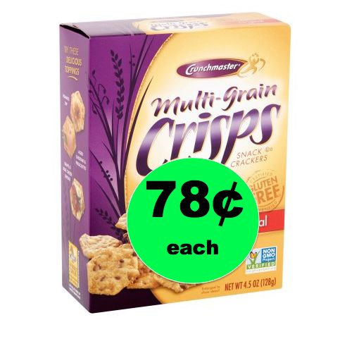 It's Crunch Time! Crunchmaster Multigrain Chips Only 78¢ Each at Walmart! ~Right Now!