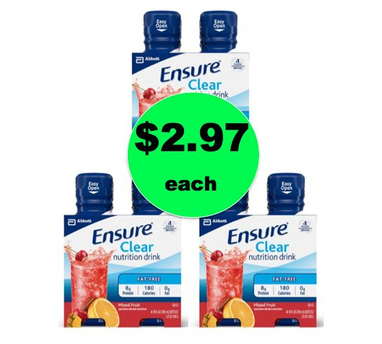 Pick Up THREE (3!) Ensure Clear 4-pks ONLY $2.97 Each at Walmart! ~ Right Now!