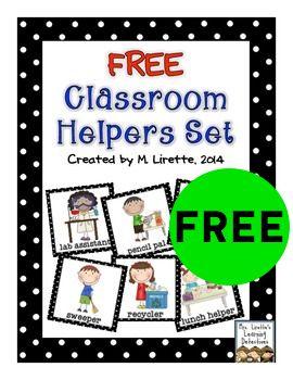 FREE Classroom Helpers Printable Set!