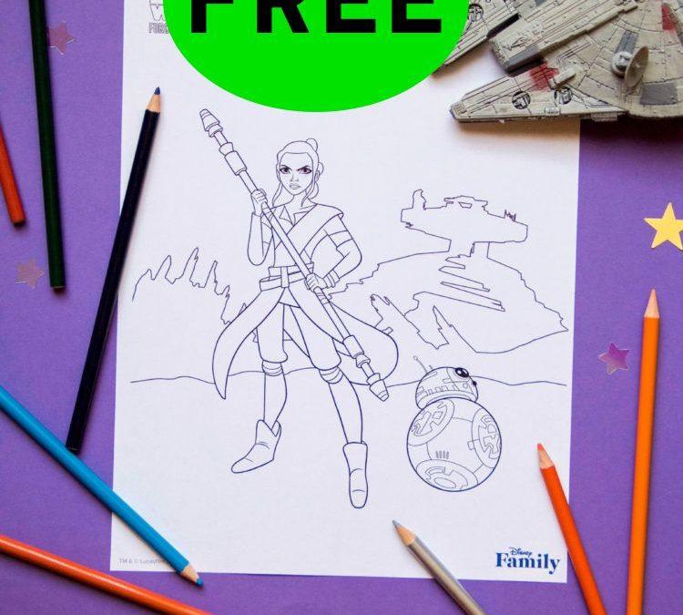 FREE Disney Star Wars Coloring Printable!