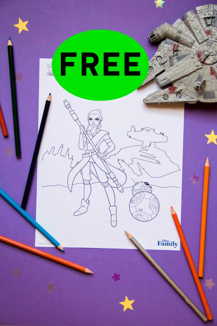 FREE Disney Star Wars Coloring Printable!