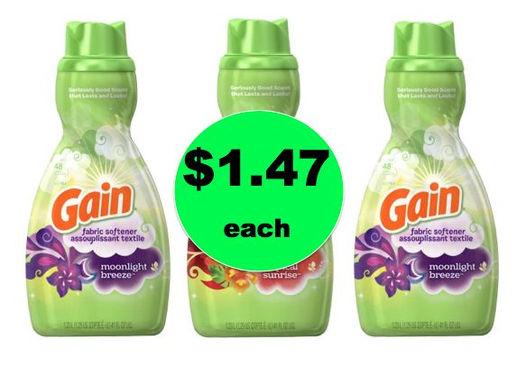 (**Update: NA**CHEAP Gain Fabric Softener ONLY $1.47 Each at Walmart! ~Right Now!