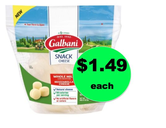 Yummy Snack! Get Galbani Mozzarella Snack Cheese ONLY $1.49 Each at Target! ~Right Now!
