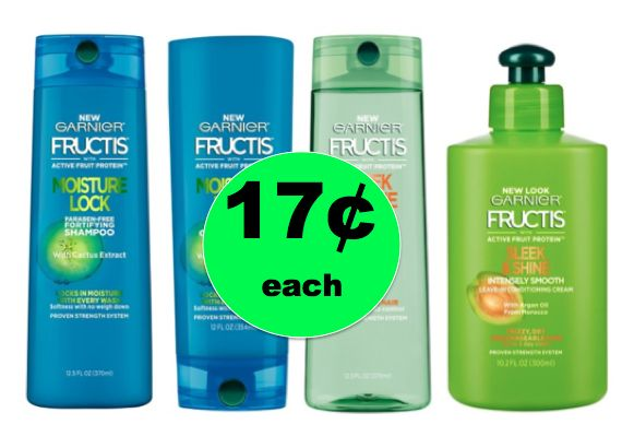 Garnier Fructis Deal! Score 17¢ Shampoo, Conditioner and Treatment Products at Target! ~ Ends Saturday!