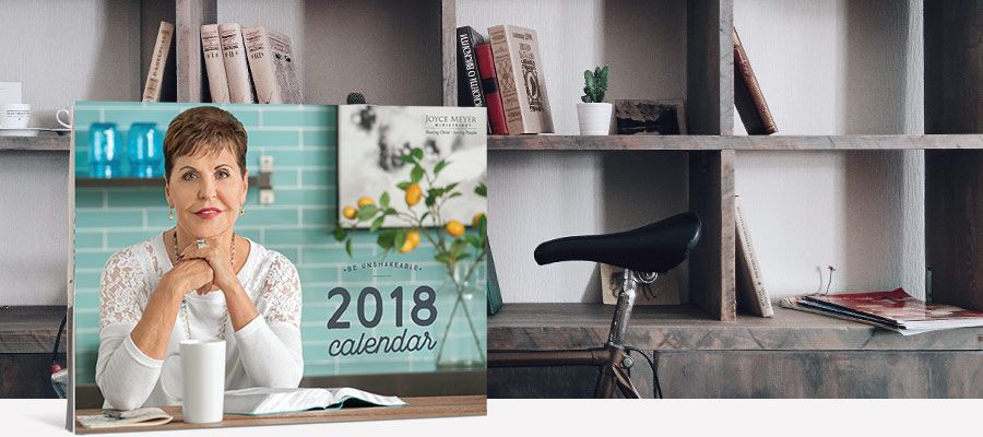FREE Joyce Meyer 2018 Wall Calendar!
