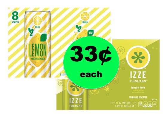 Pick Up Lemon Lemon & Izze Fusion Sparkling Water ONLY 4¢ Each at Walmart! ~Ends Wednesday!