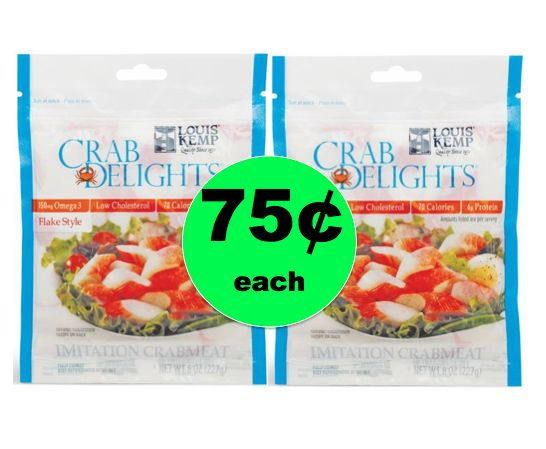 Love Seafood Salad? Pick Up Louis Kemp Delights ONLY 75¢ Each at Winn Dixie! ~ Right Now!