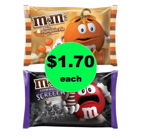 Start Stocking Up for Halloween with $1.70 M&M's Candy Bags at Target!  ~This Week Only!
