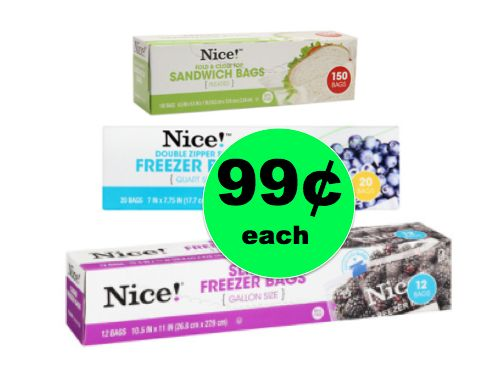 Stock Up Price On Nice! Storage Bags Only 99¢ Each at Walgreens! ~ This Week!