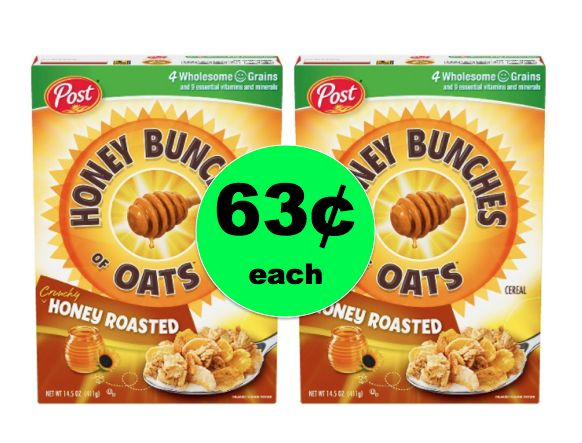 Fill Your Pantry with Select Post Cereals ONLY 63¢ Each at Walgreens! ~ Ends Saturday!