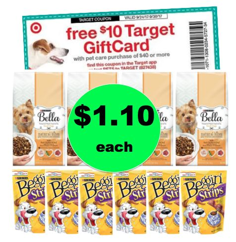 Puppy Food Stock Up Time! Fetch $40 Of Dog Food & Treats For ONLY $11 TOTAL at Target ~Ends Tomorrow!