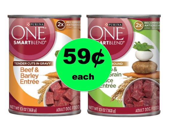 Super Doggie Deal! Get TWO (2!) Cans of Purina SmartBlend Dog Food ONLY 59¢ Each at Walmart! ~Right Now!