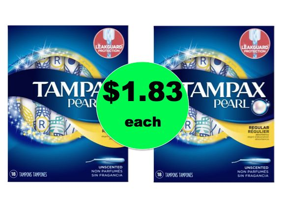Hey Ladies! Head to Walmart for Tampax Pearl Tampons ONLY $1.83 Each! ~ Right Now!